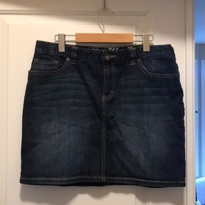 Dark Wash Jean Mini Skirt